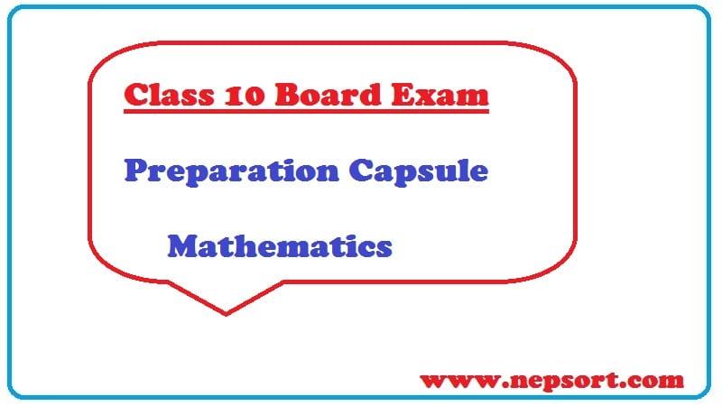 Class 10 Board Exam Preparation Capsule for Mathematics