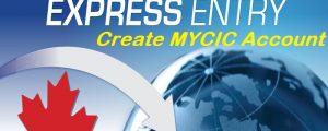 canada express entry create mycic account