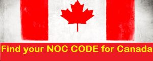 national occupation classification code canada noc code canada immigration process