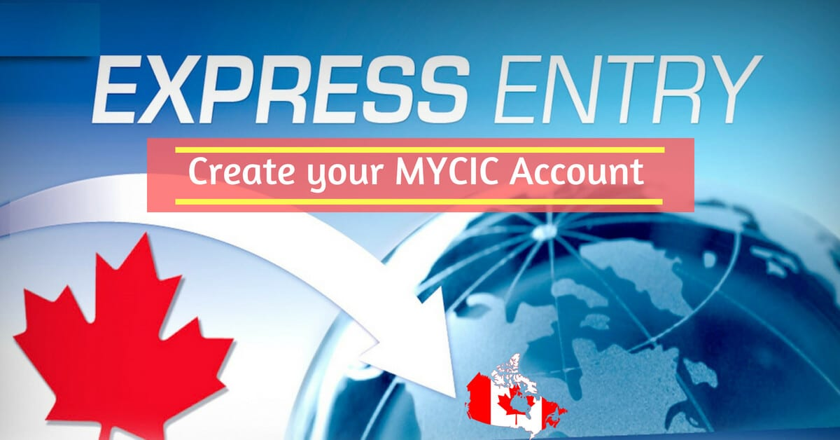 canada express entry create mycic account