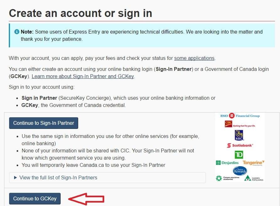 Create MYCIC Account