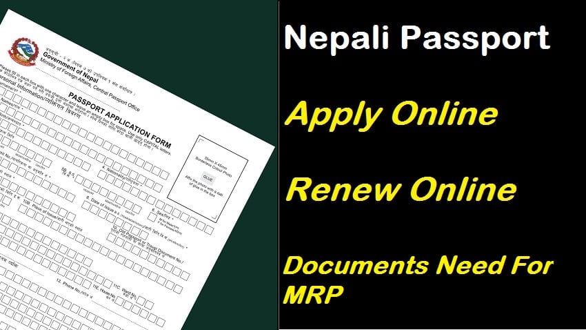 renew nepali mrp passport