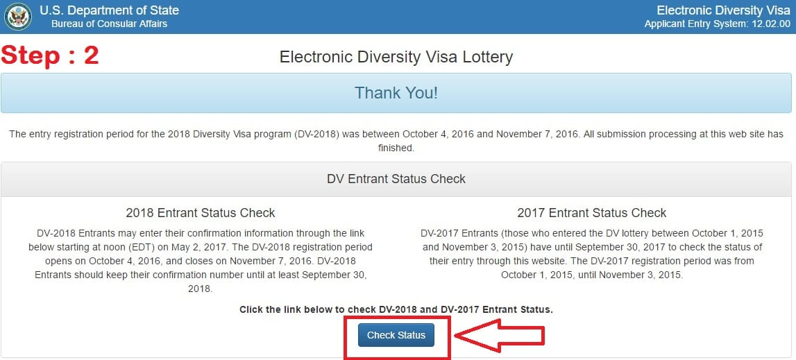 EDV Lottery, EDV Result, Check EDV Result, DV Lottery Result
