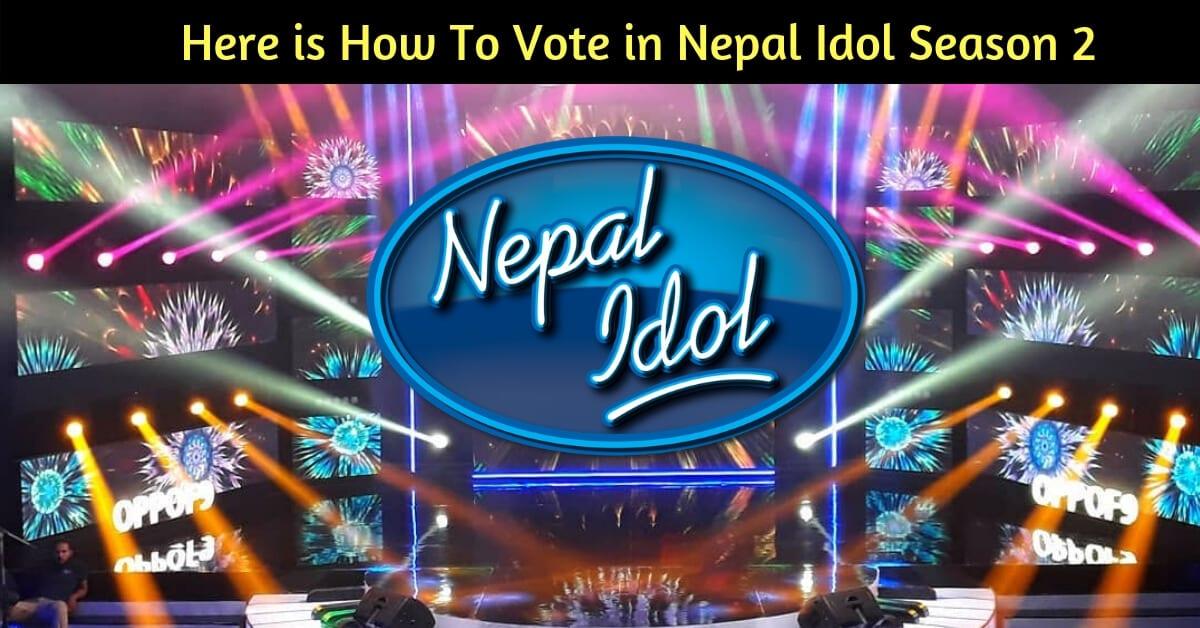 how to vote in nepal idol season 2